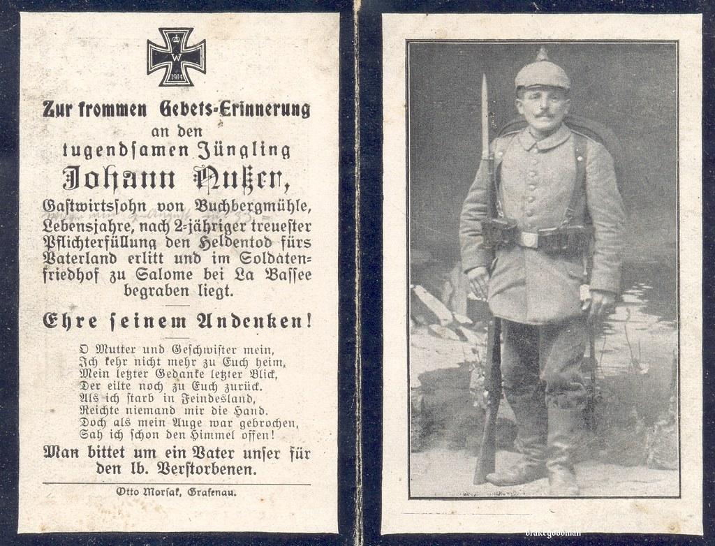 Sterbebild for landsturmmann johann nusser died 02 08 1917 by ✠ drakegoodman ✠