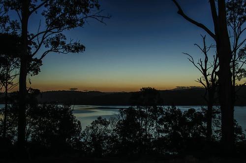 sunset night dusk australia merimbula robynsnest merimbulalake