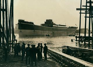 Launch of the cargo ship 'Highcliffe'