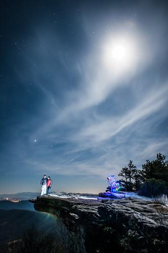 decorations sky moon tree night dark stars hiking appalachiantrail mcafeesknob at