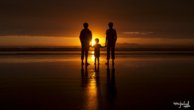 Brothers Holding Hands - Strand