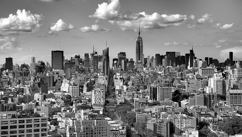 Midtown Manhattan New York view from 31st Floor Bedroom Trump Soho Hotel Black and White (Explored!) | by Paul in Leeds