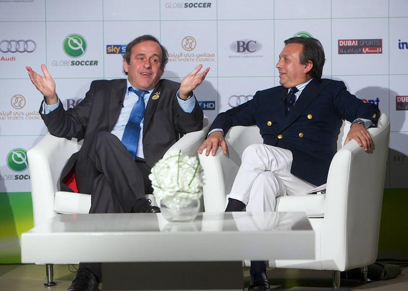 Michel Platini and Piero Chiambretti
