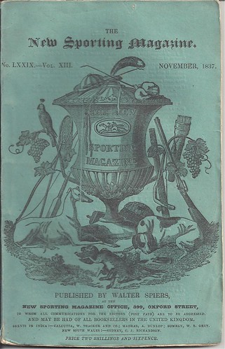 New Sporting Magazine, London - November, 1837