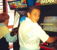 Playing OutRun & Paperboy in 1986.