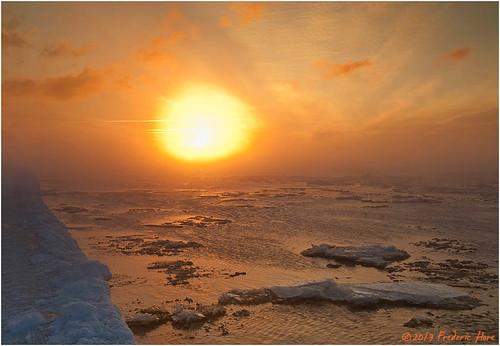 sun canada cold ice water weather fog sunrise quebec arctic environment lachine frigid tgam:photodesk=sun2013
