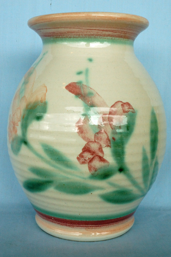 DSC01324 Large Vintage Ceramic Vase With Glaze Finish