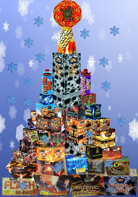 Epic Fireworks Christmas Tree