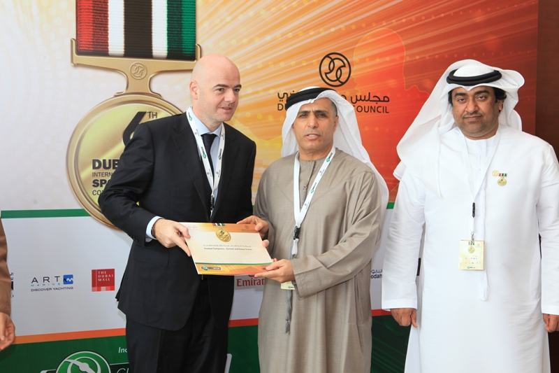 Gianni Infantino, Mattar Al Tayer and Mohammad Kamali