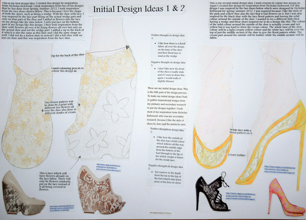 Shoe Project Drawing These Are Some Of My Design Ideas I