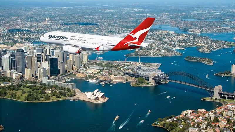 QF Qantas A380 Sydney