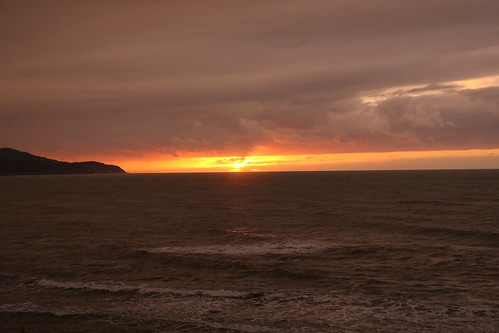sunset beach sea clouds 新潟 上越 谷浜 日本海 日本海夕日ライン