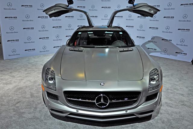 Mercedes SLS AMG silver