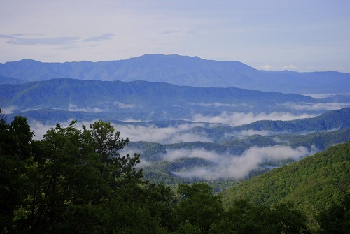 trees wild sky usa mountain mountains green nature clouds us view tennessee scenic hills smoky eastern