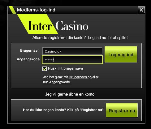 Intercasino Login