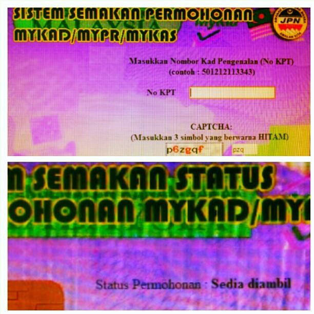 Ok Mykad Dah Sedia 24 Jam Semakan Status Permohonan My Ka Flickr