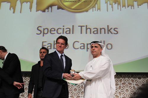 Fabio Capello and Mattar Al Tayer