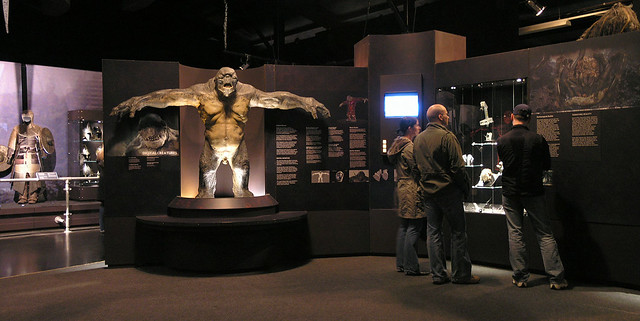 Lord of the Rings exhibition - mini panorama with a troll sculpture