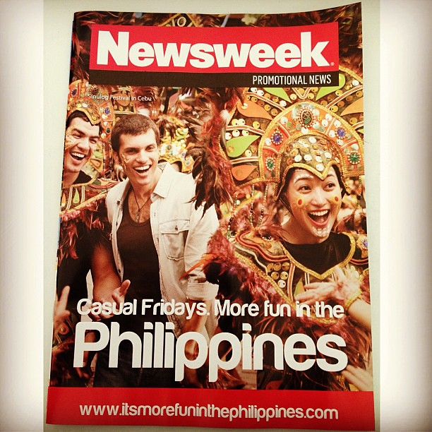Reading the January 2013 issue of #Newsweek #magazine re the #Sinulog #festival in #Cebu #Philippines. I've attended quite a number of Sinulog festivals in the past and I thoroughly enjoyed the parades, dances, chants, colorful costumes, and street food.
