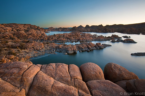 morning arizona sky lake reflection ice water sunrise dawn rocks desert boulders watson granite prescott dells brianknott forgetmeknottphotography fmkphoto