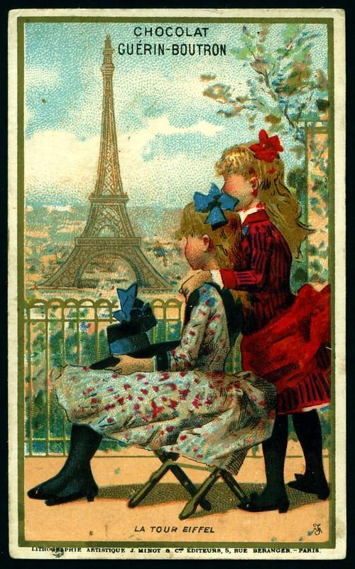 French Tradecard - La Tour Eiffel