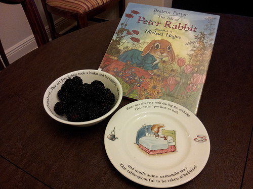 Peter Rabbit: Books, Place setting, Blackberries | by jugglerpm