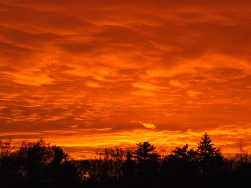 winter sunset sky orange reflection mi waves cloudy westlake refraction naturesbest cloulds sooc january2013