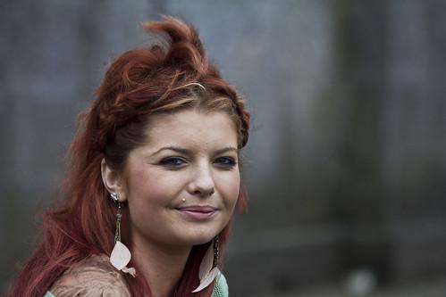 street ireland red portrait irish galway beauty smile lady candid earring fair piercing stud ballinasloe hores fullard frankfullard hiorsefair
