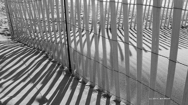 Watch Hill snow fence and shadows