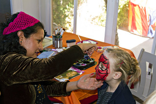 Maddy getting her face painted | by The Spohrs Are Multiplying...