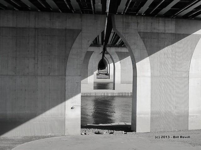 Underneath the Charter Oak Bridge, Hartford CT