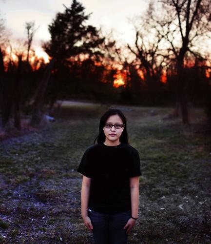 sunset portrait nikon 30mm brenizer