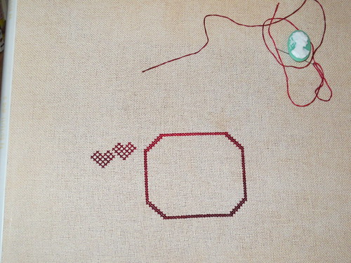 starting stitching My Token of Love Sampler from Rosewood Manor | by terrapin719