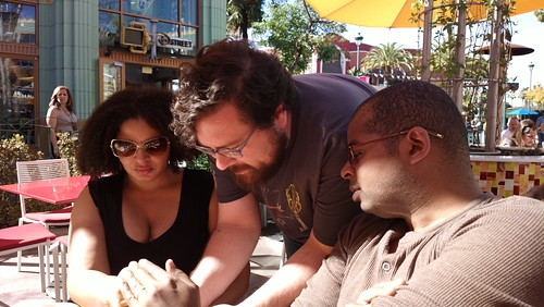 Playing Space Team at lunch, part 2: @webinista, Jason S, and @misterjt | by Ms. Jen