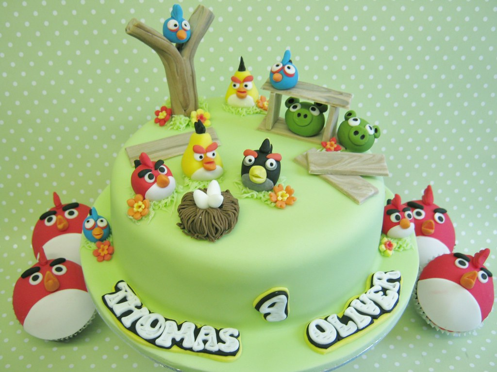 Groovy Angry Birds Birthday Cakes Birthday Cake With Matching Cup Flickr Funny Birthday Cards Online Fluifree Goldxyz