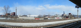 "Looking towards Pilsen from the Halsted Orange ""L"" station 
