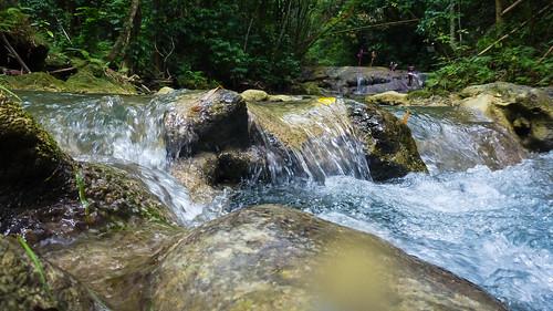 island waterfall jamaica caribbean wiltshire mayfieldfalls saintjamesparish