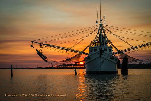 sunset boat shrimp bayou fannin carollynn project365 day022 2013yip 365the2013edition 365in2013 22jan13 day18492192
