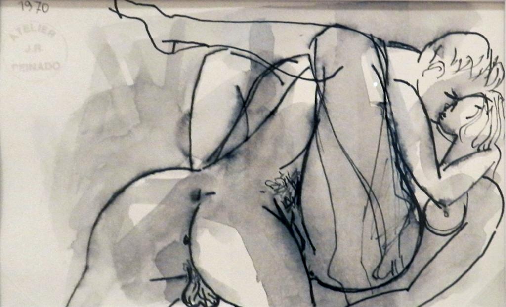 Mujer Y Hombre Desnudos 1970 Dibujo A Grafito Museo Peinad Flickr
