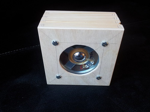 Speaker fitted to lid of box | by lilspikey