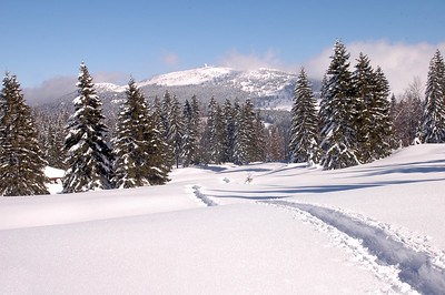 Le massif du Jura sous la neige