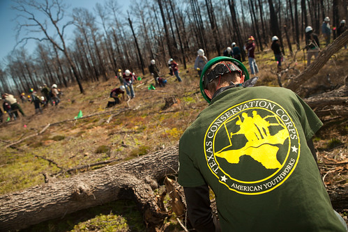 Aggie with Texas Conservation Corps