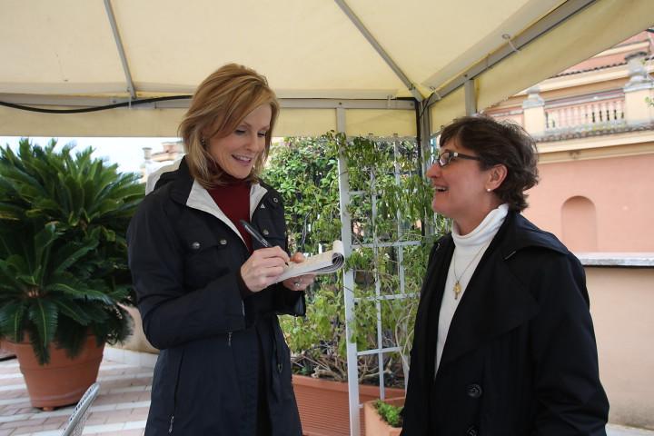 GM3_1146 JPG | ROME (March 8, 2013) - Lisa Hughes of WBZ-TV
