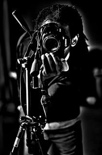 HDR self, camera and tripod