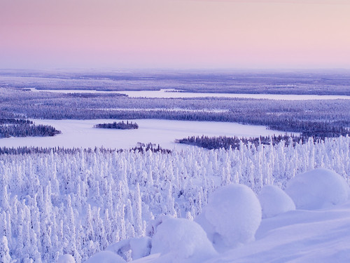 sunset snow night finland kuusamo ruka northernostrobothnia olympus45 ruka2013 pwwinter