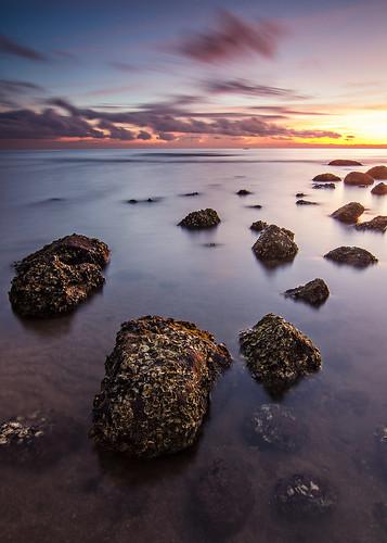 seascape rock sunrise landscape philippines oyster bataan alangan