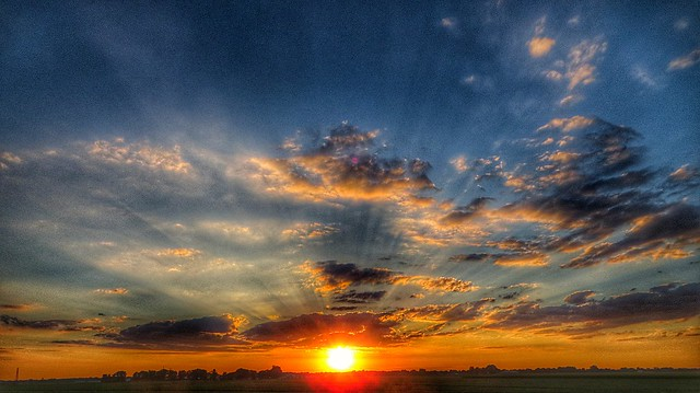 Sunset over Fort Wayne, IN