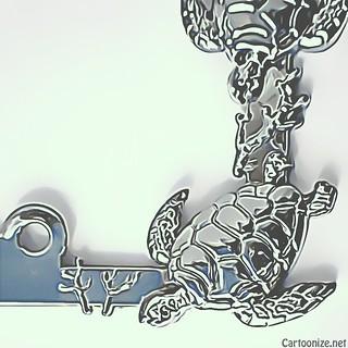 Sea Turtle License Plate Frame Stock 96 03 Cartoon
