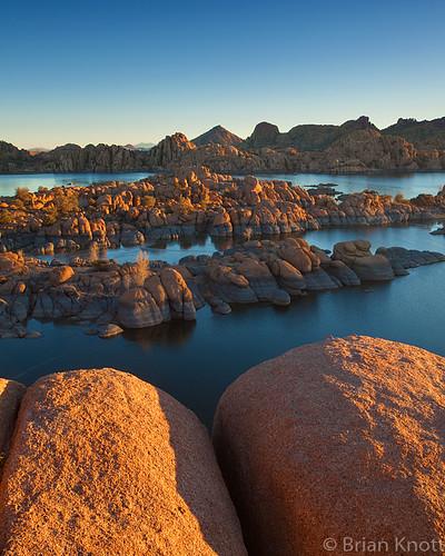 winter arizona lake ice water sunrise dawn rocks desert watson granite prescott dells brianknott forgetmeknottphotography fmkphoto