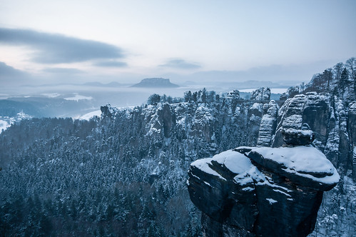 before sunrise at Bastei | by skoeber